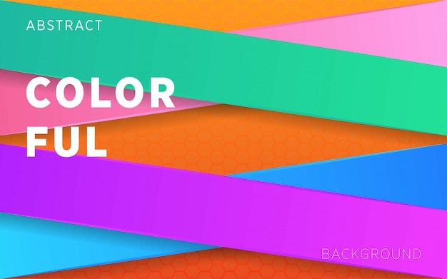 Colorful abstract background on hexagon texture.