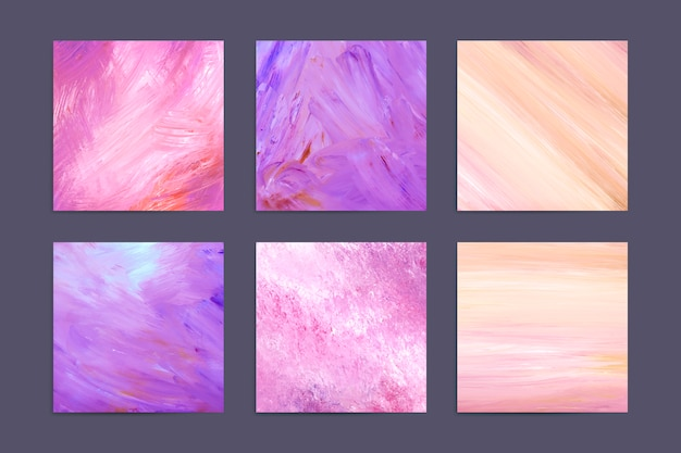 Colorful abstract background set