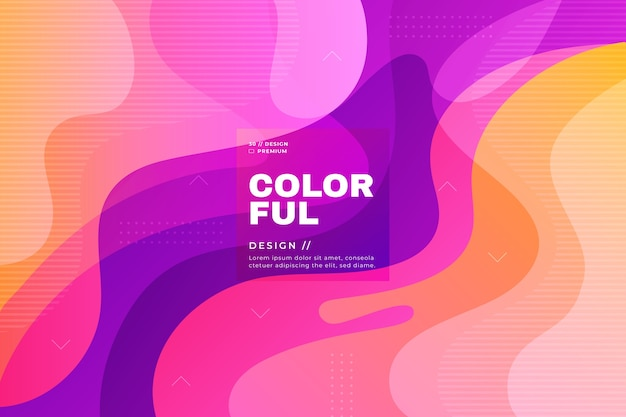 Colorful abstract background theme