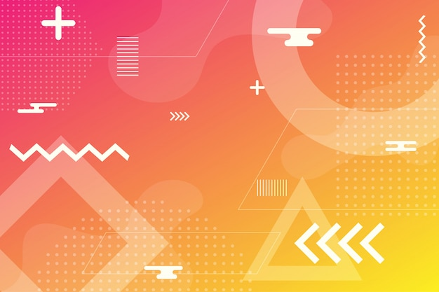 Colorful abstract background using minimal geometry as an element.