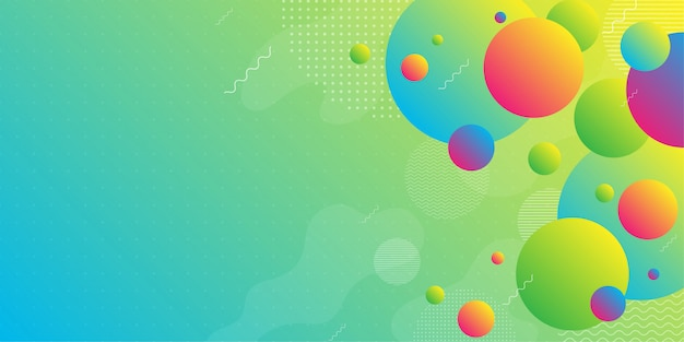Colorful abstract background using minimal geometry
