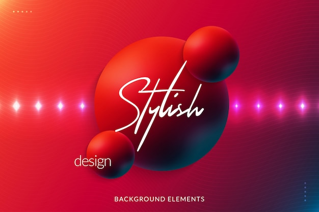Colorful abstract background with 3d spheres