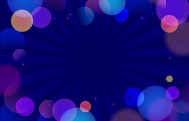 ボケの焦点がぼけたライトサークルとカラフルな抽象的な背景