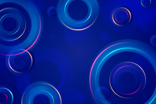 Colorful abstract background with circles and rings