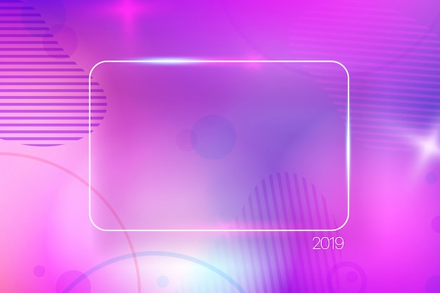 Colorful abstract background with empty frame.