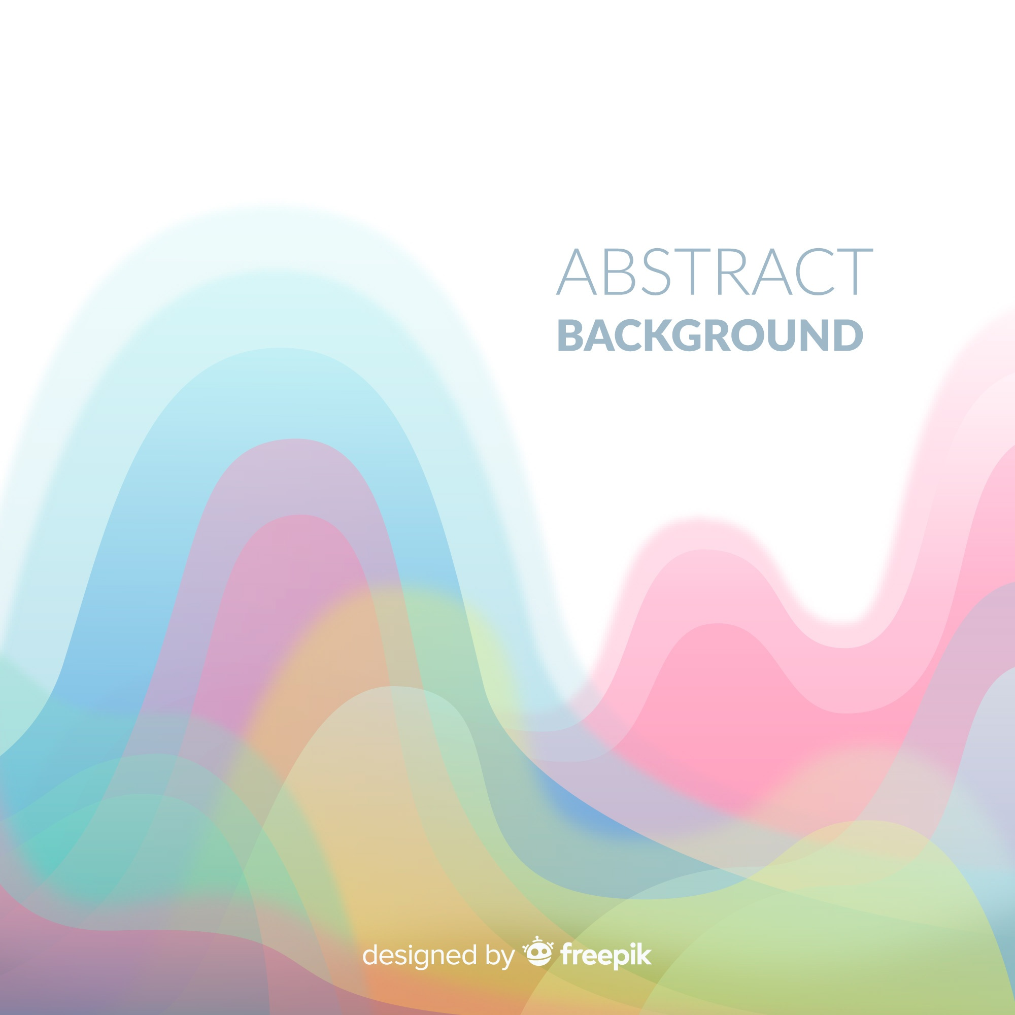 Colorful abstract background with flat design