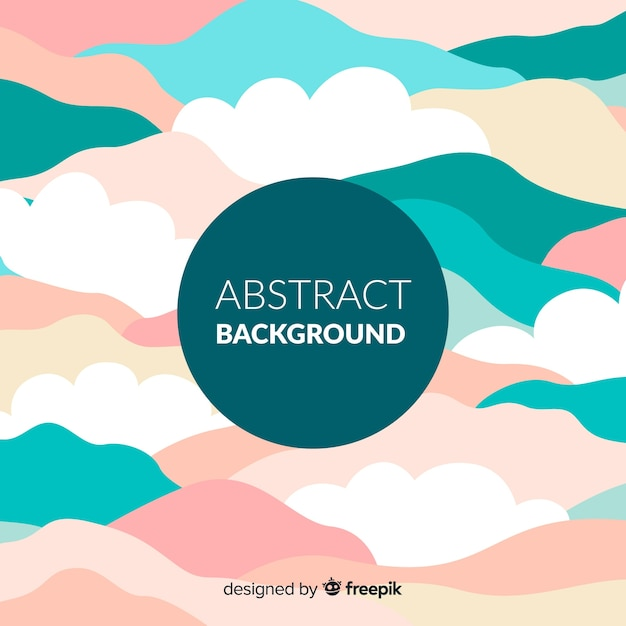 Free Colorful Abstract Background With Flat Design Svg Dxf