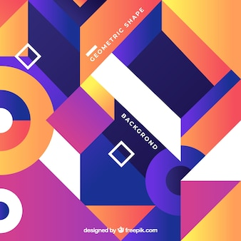 Colorful abstract background with geometric shapes