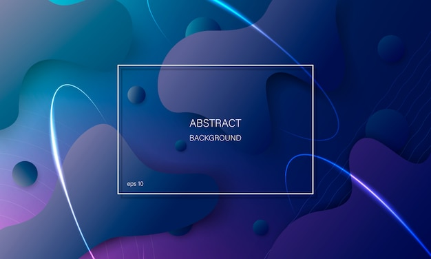 Colorful abstract background with geometric shapes.