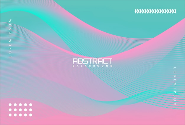 Colorful abstract background with gradient and lines