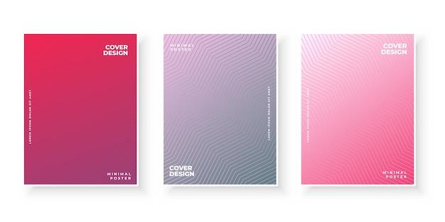 표지 디자인에 대한 그라데이션 텍스처와 다채로운 추상적 인 배경
