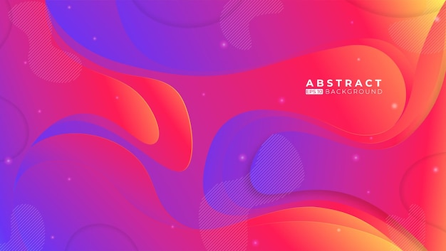 Colorful abstract background with memphis elements
