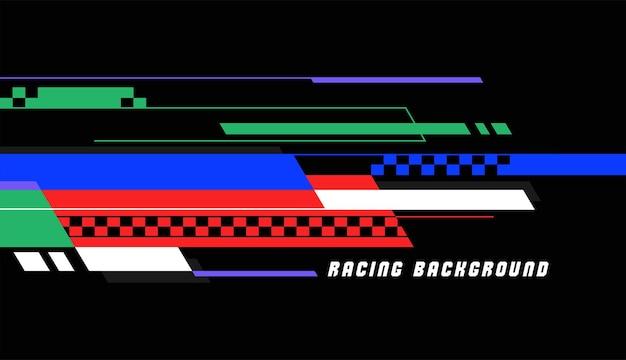 경주 스타일 벡터 디자인 서식 파일 다채로운 추상적인 배경