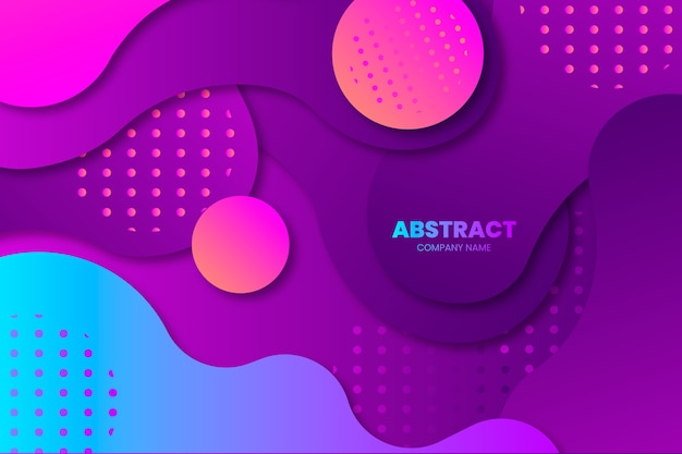 Colorful abstract background with shapes