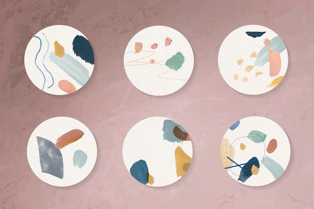 다채로운 추상적인 배지 컬렉션