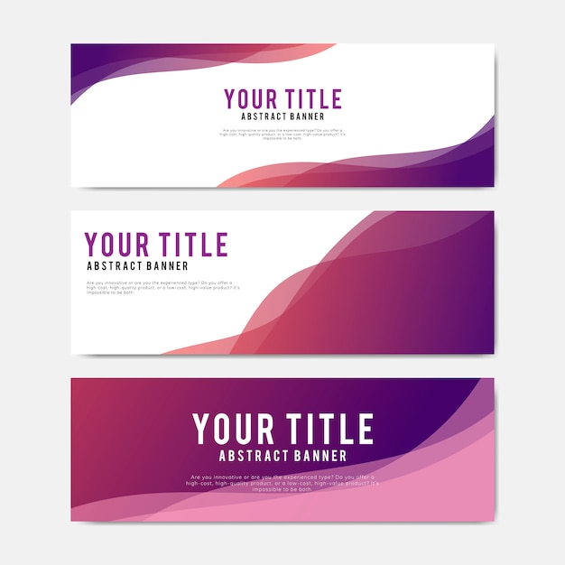 Colorful and abstract banner design templates