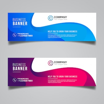 Colorful abstract banner design