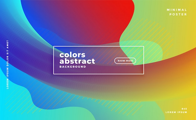 Colorful abstract banner with wavy shapes