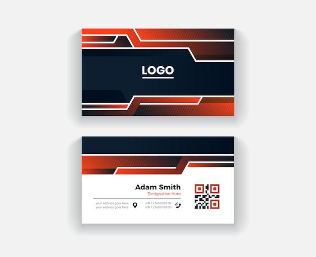 Красочный абстрактный шаблон дизайна визитной карточки