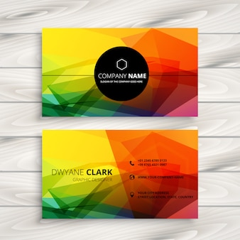 Colorful abstract business card design