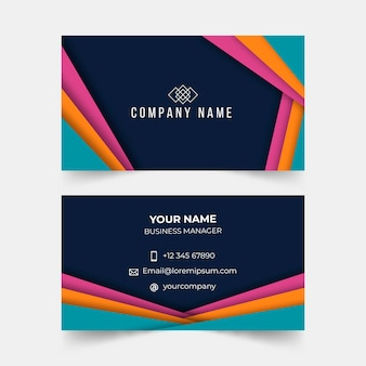 Colorful abstract business card template