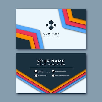 Colorful abstract business card