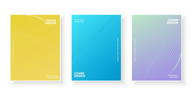 Colorful abstract business cover set