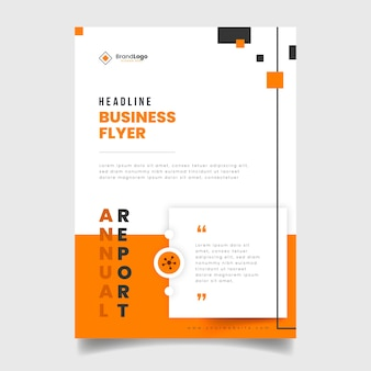 Colorful abstract business flyer template