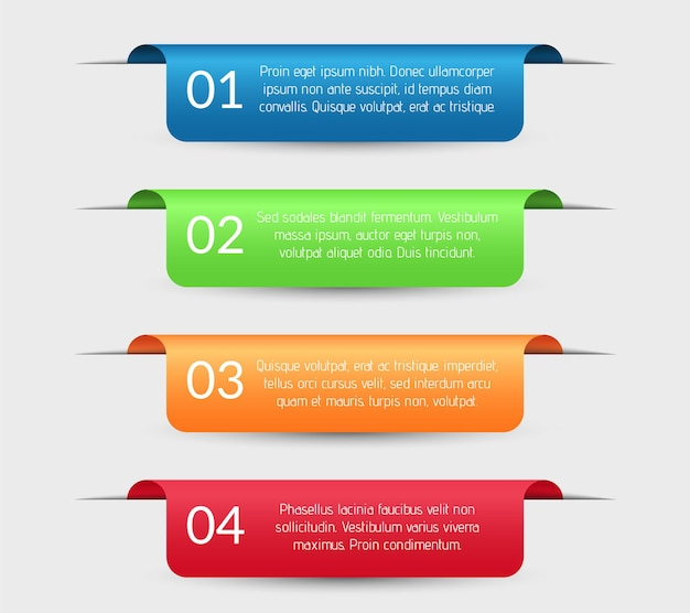 Colorful abstract business infographic labels