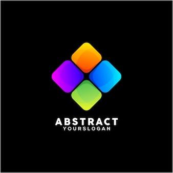 다채로운 추상적인 비즈니스 로고 디자인 서식 파일