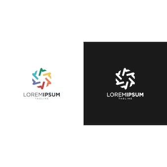 Colorful abstract business logo