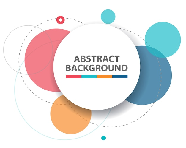 Colorful abstract circle background