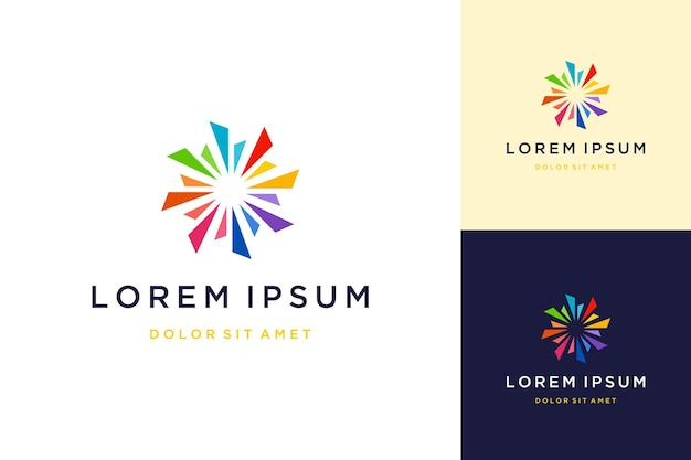 Colorful abstract circle design logo