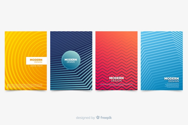 Colorful abstract cover collection