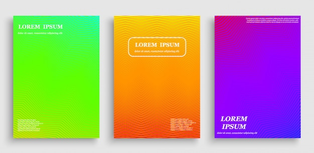 Colorful abstract cover with line texture