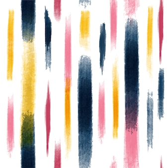 Colorful abstract creative seamless pattern with brush strokes.