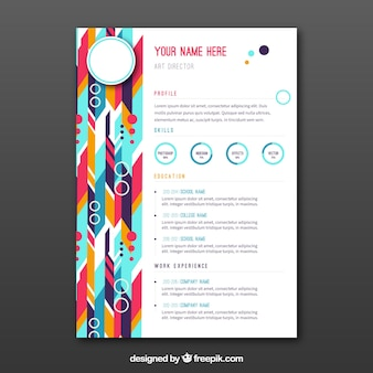 Colorful abstract curriculum in flat design