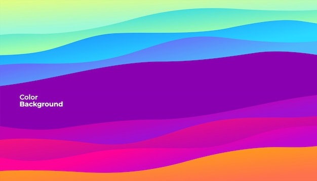 Colorful abstract curve banner.