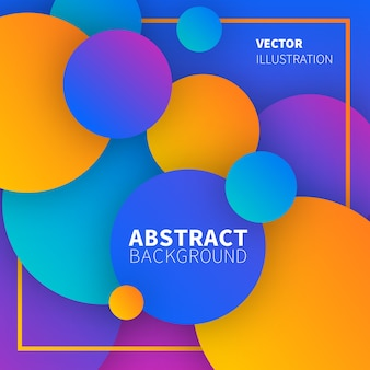 Colorful abstract design with circles