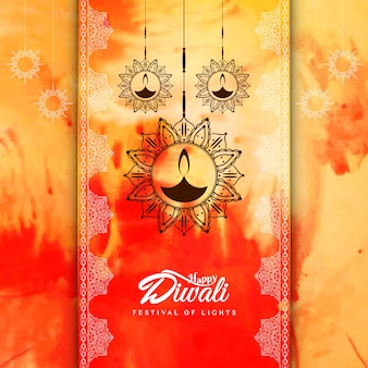 Colorful abstract diwali design