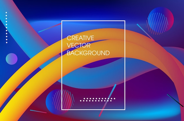 Colorful abstract dynamic fluid background
