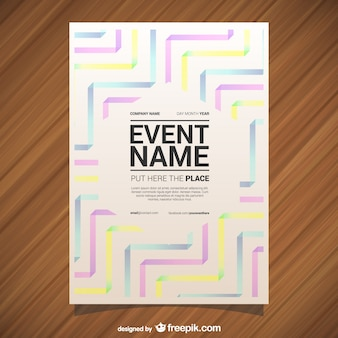 Colorful abstract event poster