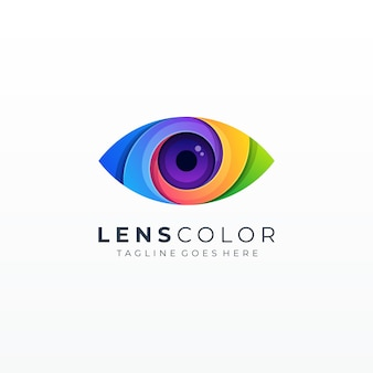 Colorful abstract eye vision bubble icon