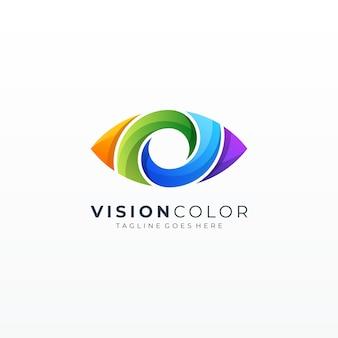 Цветной абстрактный значок глаза видение пузыря