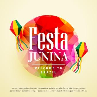 Colorful abstract festa junina design