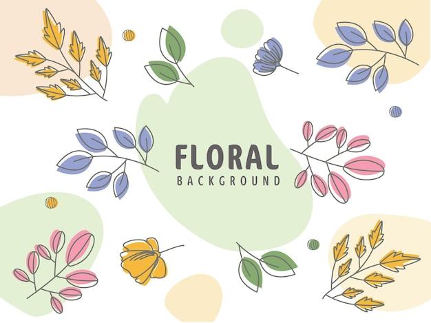 カラフルな抽象的な花の背景。