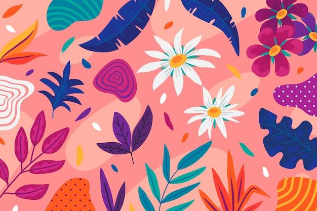 カラフルな抽象的な花の背景