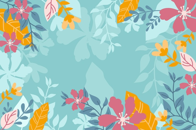 Colorful abstract floral background