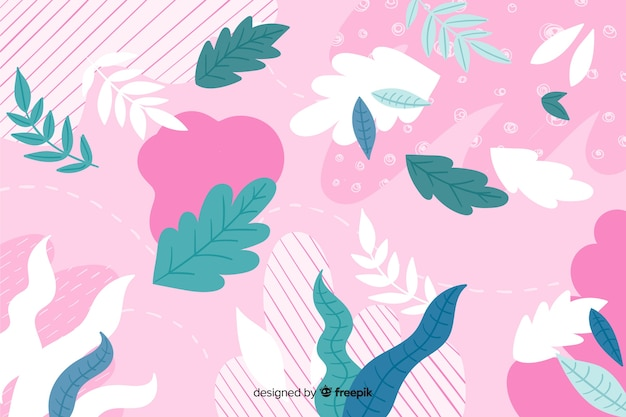 Colorful abstract floral hand drawn background