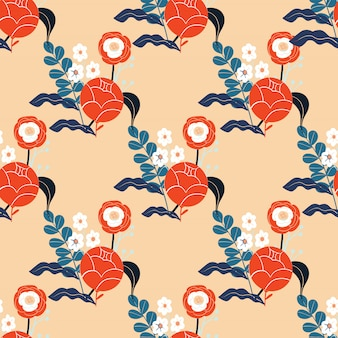 Colorful abstract floral pattern. seamless background.